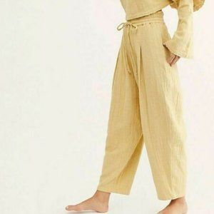 Free People Cuddle Up High Waist Lineseed Pant New